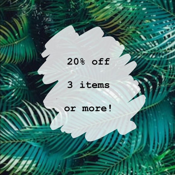 Other - 20 % off 3 items or more
